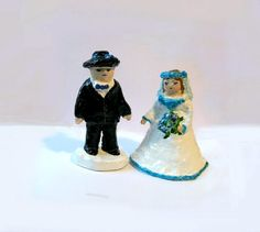 Wedding décor Wedding Cake Toppers 2 Figures by labostyle on Etsy