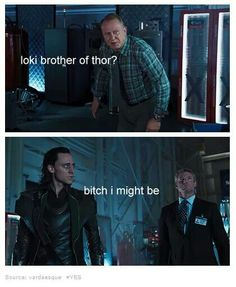 """The """"I can't believe you just freaking said that"""" look on Loki's face..."""