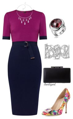 """""""Burlsgurl #1305 (TFP 1/16/16)"""" by burlsgurl ❤ liked on Polyvore featuring Ted Baker, Manolo Blahnik, Bling Jewelry, women's clothing, women's fashion, women, female, woman, misses and juniors"""