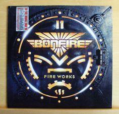 BONFIRE Fire Works Vinyl LP Ready 4 Action Rock me now Never mind Champion RARE
