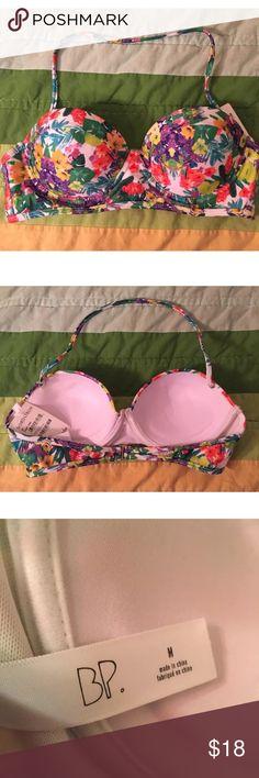 BP Brass Plum Push Up Swim Top Tropical M New with tags Brass Plum Push Up Halter Tropical Print Swim Top. Size M. bp Swim Bikinis