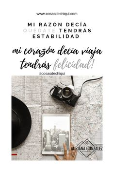 Me atreví a dejar de soñar y a vivir la vida que realmente anhelaba!. Conoce mi historia... #viajes #vivirparavolar #viajes #viajesporelmundo #viajarporelmundo #viajarsola #viajeros #frasesdeviajes #tipsdeviajes Monogram, Pattern, Travel, Dreams, Stop Thinking, Hipster Stuff, Motivating Quotes, Inspirational Quotes, Monogram Tote