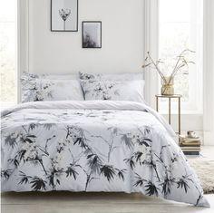 Bianca Kyoto Oriental Floral Cotton Duvet Cover And Pillowcase Set - White Super King Duvet Covers, King Duvet Cover Sets, Duvet Sets, 100 Cotton Duvet Covers, Double Duvet Covers, Kyoto, Velvet Duvet, Hazelwood Home, Duvet Bedding