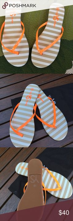 Flip flops Brand new! Never worn ! Yosi Samra flip flops. Size 8. Perfect for summer and the beach! Fun colors!!! Dust bag included. Yosi Samra Shoes Sandals