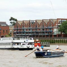 M.V Jewel of London and Benjamin during the Annual Thames Barge Driving Match on Saturday.