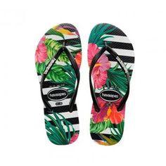 26e93e1d1405 Chinelo havaianas slim tropical floral