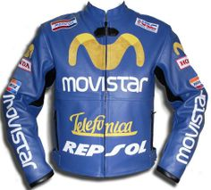Honda Movistar Leather Jacket with full protection features, readily available in multiple colors. You are also open to suggest new color for you jacket, if you do not like ordinary colors.
