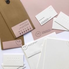 Copper + Cream event planning and design firm logo by Romy Collective and print design by Swellpress Collateral Design, Stationary Design, Graphic Design Branding, Corporate Design, Identity Design, Logo Design, Packaging Design, Stationery Set, Wedding Stationery