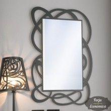 Espejo de forja de pared jerez vertical 2