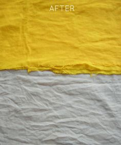 (Natural Fabric Dyeing with Tumeric & Coffee) if there was a dress that Anna really likes, that doesn't come in the right color, but came in white or off white, we could dye it yellow with turmeric