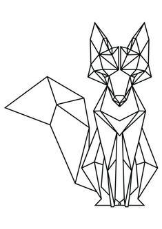 Tattoo Geometric Fox Origami 67 Ideas For 2019 Geometric Fox, Geometric Drawing, Geometric Tattoos, Geometric Origami, Origami Design, Geometric Lines, Animal Drawings, Art Drawings, Drawing Animals