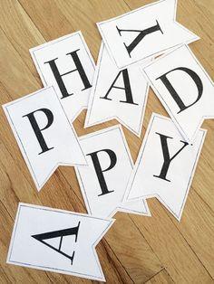 Printable alphabet banner letters