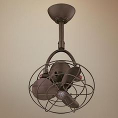 Compact ceiling fan idea for the kitchen.