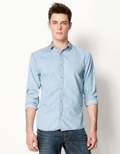 Bershka Romania - Contrast collar shirt