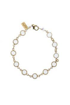 Sparkling clear crystals set in gold-filled bezels.   Crystal Bezel Bracelet by Rafia. Accessories - Jewelry - Bracelets Illinois