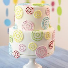 Dots on Dots Tiered Cake: