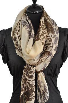 Foulard tête de léopard