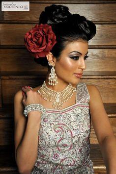 Bridal Hair & Make-up - see more inspiration @ http://www.ModernRani.com