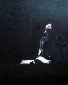 """""""Songe Noir"""" (41x33) - Huile AV - 2013 - Grégory H."""
