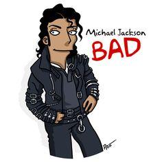 Michael Jackson - BAD / Simpsonized by ADN