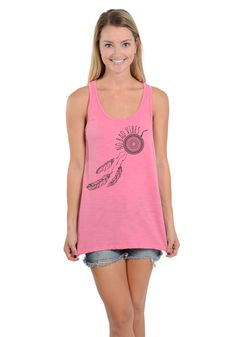 No Bad Vibes - Oversized Racerback Tank