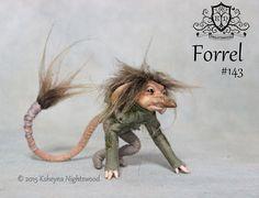 OOAK Troll Art Doll Sculpture  Forrel by Ksheyna by nightswood