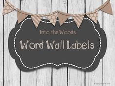 Who doesn't love barn wood?  Create or update your word wall with these new labels!  Keywords:  Modern, barnwood, rustic, masculine classroom decor