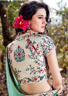 You looking for Latest Elegant Sari Blouse Click Visit link to see more - Saree Blouses Sari Blouse Designs, Designer Blouse Patterns, Saree Blouse Patterns, Blouse Styles, Latest Blouse Designs, Dress Styles, Bollywood, Lehenga, Anarkali