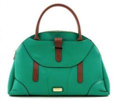 Gunas Vegan Handbag Monarch Green and Tan