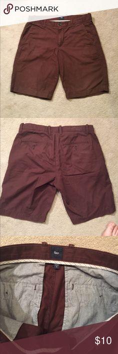 GAP Chino Shorts -31W Flat front; maroon chino short. GAP Shorts Flat Front