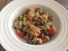 Quinoa con verduras salteadas - Dieta enzima prodigiosa. Receta (recipe, recipe), comida (food, food)