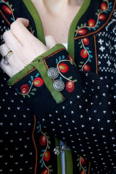embroidered sweater from  *VALDRES*