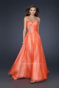 Vestidos de Fiesta Largos de color Naranja