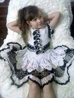 Вязаное платье для девочки - Вязание Крючком. Блог Настика. Схемы, узоры, уроки бесплатно