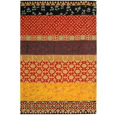 Safavieh Handmade Rodeo Drive Bohemian Collage Rust/ Gold Wool Rug (7' 6 x 9' 6), Red, Size 7'6 x 9'6 (Cotton, Floral)