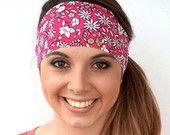 NEW! Spring Flowers | Fitness headband | Yoga headband | Workout headband | Non-slip headband | Pink Wide headband |  Buy Any 5, Get 1 FREE!