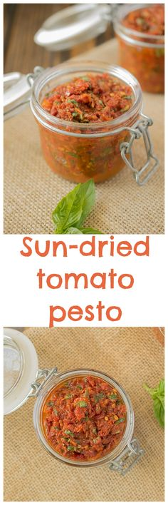 A wonderfully diverse recipe component. Sun-dried tomato pesto is a great sauce that you can add to hot pasta or use as a dip and it's so easy to make because there's only 2 ingredients. Yes, just 2!