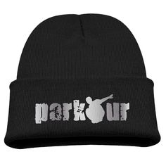 Parkour Logo Platinum Style Kids Skullies And Beanies Black. Surface Material: 85% Cotton. Knit Skullies. Stylish Outdoor Activities. 7.8 Inch Depth. Hand Wash.