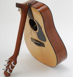 California-based company Voyage-Air have designed a line of travel guitars made to fold forward at the base of its neck for ease of travel. The guitars come in both acoustic and electric versions | laughingsquid