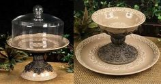 Tuscan Old World Drake Design Cake Plate With Dome
