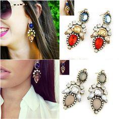 Nieuwe Klassieke Hot Fashion crystal stud oorbellen vrouwen brincos pendientes oorbellen voor vrouwen