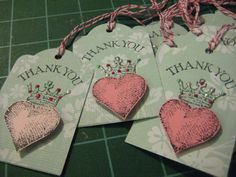 Your place to buy and sell all things handmade Thank You Customers, Heart Crown, My Funny Valentine, Thank You Tags, Business Gifts, Twine, Crowns, Wedding Favors, Charity