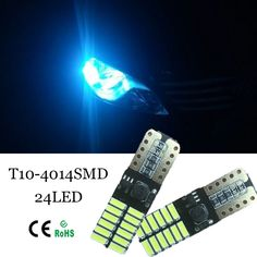 4pcs Car Canbus No Error T10 w5w 194 24-SMD LED Width Lamp light vw POLO Golf 5 6 7 GTI Passat b5 B6 JETTA MK5 MK6