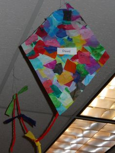 Tissue paper kite