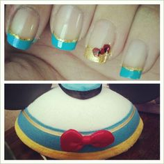 Post with 0 votes and 53 views. Someone told me to post this here. Did my nails to match my donald ears! Disneyland Nails, Disneyland Trip, Bling Nails, My Nails, Disney Manicure, Duck Nails, Donald And Daisy Duck, Chip And Dale, Great Nails