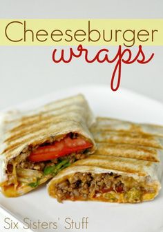 A new spin on the classic cheeseburger. A healthy wrap with some lean beef. These are amazing!