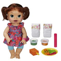 Shop for Baby Alive Super Snacks Snackin Sara Brunette. Starting from Compare live & historic toys and game prices. Baby Alive Food, Baby Alive Dolls, Baby Play, Baby Toys, Toys R Us, Kids Toys, Little Doll, Little Girls, Sara Brown