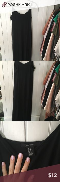 Simple black maxi dress Plain black maxi dress from forever 21. Worn a few times, in perfect condition Forever 21 Dresses Maxi