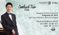 Prodigio de la música, el pianista Conrad Tao será solista de la Orquesta Sinfónica Nacional