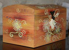 Cofanetto in legno dipinto a mano